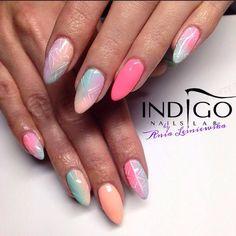 by Indigo Educator Ania Leśniewska, Follow us on Pinterest. Find more inspiration at www.indigo-nails.com #nailart #nails #indigo #pastel