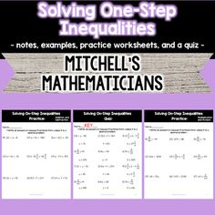 29 Best Inequalities Images High School Maths Middle School Maths