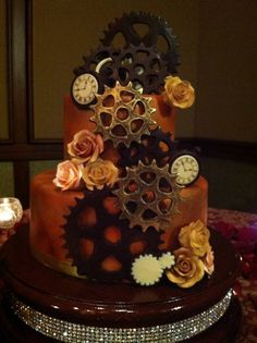 Perfect Little Steampunk Wedding Cake :)