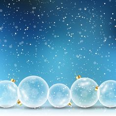 Blue background with christmas balls Free Vector