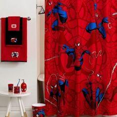1000 images about p 39 s bathroom on pinterest superhero for Spiderman bathroom ideas
