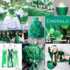 Emerald Green Wedding Color - Emerald is the Pantone Color of the Year for 2013. It can be paired with a variety of color choices. #emeraldgreenwedding