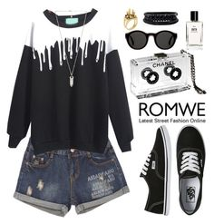 """""""http://www.romwe.com"""" by oshint ❤ liked on Polyvore featuring Vans, Chanel, Mykita, Bobbi Brown Cosmetics, Spring Street, Artelier by Cristina Ramella, Amber Sceats and romwe"""