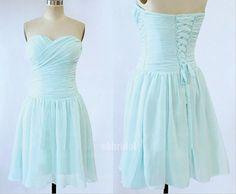 light sky blue bridesmaid dress chiffon bridesmaid by okbridal