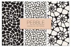 Pebble. Seamless Patterns Set by Curly_Pat on Creative Market
