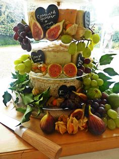 Cheese Cake anyone? A different style of wedding cake and a stylish way of serving cheese and biscuits in the evening