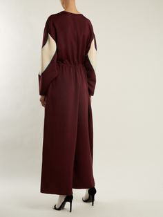 Click here to buy Valentino Drawstring-waist wide-leg faille jumpsuit at MATCHESFASHION.COM