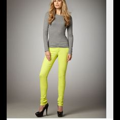 Joes Jeans Joes Jeans Super Skinny size 25 in lime punch. New with tags Joe's Jeans Jeans Skinny