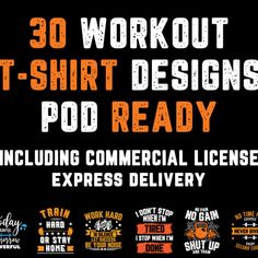 I will give you 30 workout tshirt designs ready for print on demand, #workout, #tshirt, #give Work Hard, Shirt Designs, Let It Be, Workout, T Shirt, Supreme T Shirt, Tee Shirt, Working Hard, Work Out