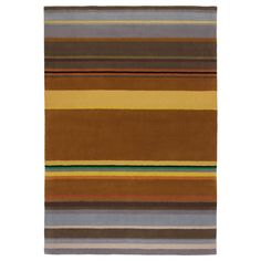 STOCKHOLM Rug, low pile - IKEA--would work with the yellows but not the red.  The horizontal stripes would make the room feel larger/wider.