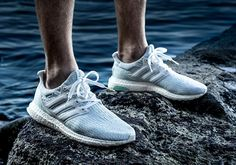 Parley x adidas Ultra Boost Footwear White Color: Footwear White/Footwear White-Icey Blue Style Code: CP9685 Release Date: June 28, 2017 Price: $200