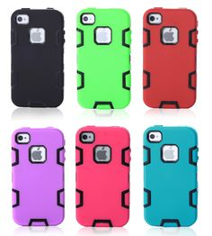vendita calda Etui Armor Cases For Apple iPhone 4S & 4 Hard Silicone Back Cover Couqe Aifon 4s Cell Telefon Skin Capa Funda Digital Guru Shop