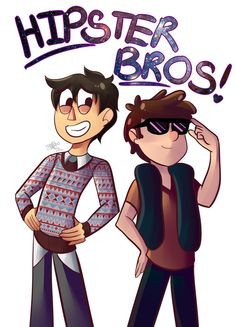 Hipster Bros by Dianers626 on DeviantArt>>> Oh man Wirt and Dip be mah Brotp. Yah know, friends.