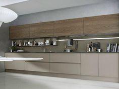 Cozinha lacada linear SYSTEM Composition 06 by Pedini Modern Kitchen Cabinets, Kitchen Dinning, Kitchen Sets, Modern Kitchen Design, Interior Design Kitchen, Kitchen And Bath, New Kitchen, Kitchen Decor, Kitchen Layouts
