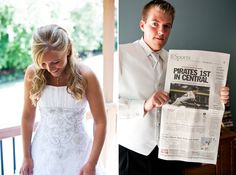 GET A NEWSPAPER ON THE WEDDING DAY. It will be a keepsake later, just like your parents probably saved a newspaper from the day you were born.