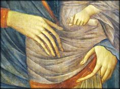 Giovanni da Milano, Saint Francis (detail), 1365