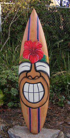 about Tribal Tiki Wood Mask Patio Tropical Bar Wall Art Hibiscus Flower Turtle Happy Tiki Hibiscus Flower tropical Wood Surfboard Wall Plaque Tiki Bar Décor Tiki, Tiki Art, Luau Theme Party, Hawaiian Party Decorations, Hawaiian Decor, Patio Tropical, Tropical Decor, Tiki Maske, Bars Tiki