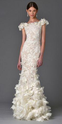 vestido de noiva com corte reto 2017