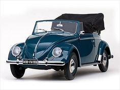 1958 Volkswagen Beetle Kafer Cabriolet Atlas Blue 1/12 Limited Edition 1 of 1000 Produced Worldwide by Sunstar