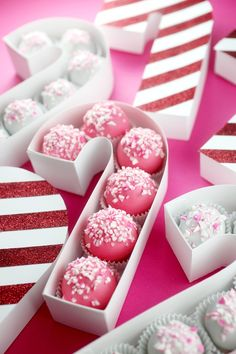 Make these DIY candy cane treat boxes for the ultimate holiday party favor.