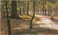 Władysław Podkowiński - Path in a forest
