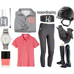 """""""Coral Monogram"""" by bacardiandeq on Polyvore"""