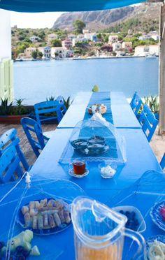 Breakfast in Kastelorizo, Greece