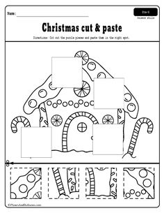 Christmas-worksheets-for-preschoolers - Planes & Balloons | Let's make learning fun!