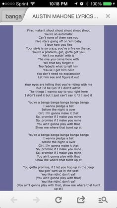 Lyrics for austin
