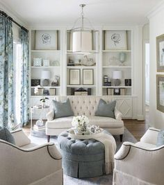 White and Gray Living Room Designs. 20 New White and Gray Living Room Designs. 40 Grey Living Rooms that Help Your Lounge Look Effortlessly French Living Rooms, French Country Living Room, Living Room White, White Rooms, Living Room Paint, Formal Living Rooms, New Living Room, Living Room Sofa, Living Room Decor