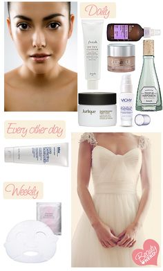 Weekly Bridal skincare guide
