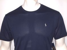 Polo Ralph Lauren men's performance jersey men's T-Shirt color navy blue new  #PoloRalphLauren #crewneckteeshirt