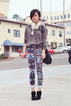 wish my legs were thin enough to pull off pattern pants.