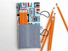 Mini Pencil Roll  Cassette  by paperfromheaven #80s #stockingstuffer #teengift