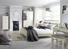 Grey Shabby Chic Bedroom