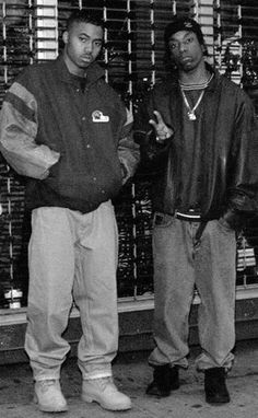 Nas & Big L. Back In The Day. #oldschool #hiphop