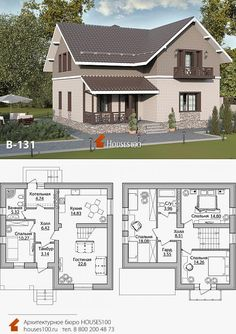 Model House Plan, House Plans, Sims, Double Storey House, Facade House, Bungalow, Architecture Design, Floor Plans, Cottage