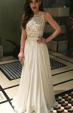Elegant A-line Lace Top High Neck Chiffon Long Prom dress. Lacy Prom  DressesProm Dresses Burgundy ... 903c923f15c7