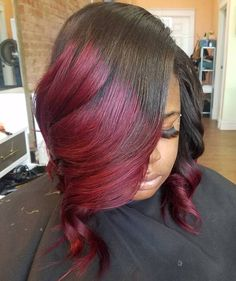 20 Stunning Ways to Rock a Sew In Bob – Maroon hairstyles Black Hairstyles With Weave, Curly Weave Hairstyles, Bob Hairstyles, Curly Hair Styles, Natural Hair Styles, Wedding Hairstyles, Bordeaux, Bob Sew In, Bob Weave