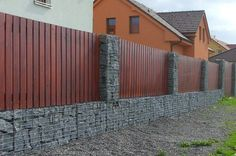 Custom Wood and Steel Gabion Privacy Walls In The Phoenix Area