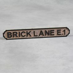 Vintage Style Antiqued Wooden London Street Sign - Brick Lane E.1 - NEW in Home, Furniture & DIY, Home Decor, Plaques & Signs | eBay