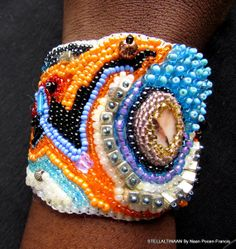 $79.99 New listed OOAK freeform bead embroidery braclet. https://www.etsy.com/shop/Stellaltinaan