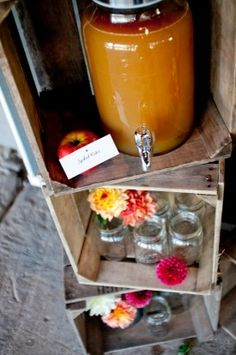 Cider in mason jars. Doesn't get anymore fall than that.