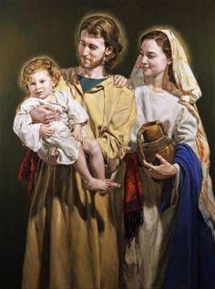 St Joseph Catholic, Catholic Art, Catholic Saints, Catholic Religion, Religious Art, Jesus Christ Painting, Jesus Art, Blessed Mother Mary, Divine Mother