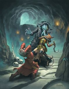Mind Flayer fighting an adventure group