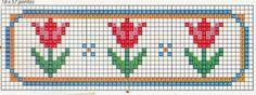 Inspiring tips that we enjoy! Cross Stitch Alphabet Patterns, Cross Stitch Bookmarks, Tiny Cross Stitch, Cross Stitch Flowers, Cross Stitching, Cross Stitch Embroidery, Fair Isle Chart, Stitch Cartoon, Hand Embroidery Flowers