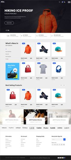 Allo is clean and modern design 4in1 responsive #HTML5 template for #Fashion & #clothing store #eCommerce website download now..