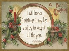 Christmas Card Victorian Greeting Inside Verse