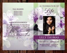 Floral Printable Funeral Program Ready To Edit  Print Simply