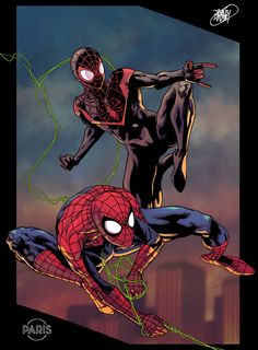 Spider-Man - Peter Parker and Miles Morales by Paris Alleyne *